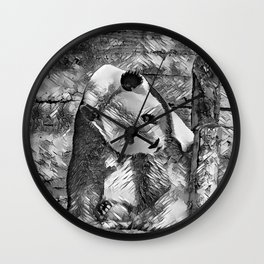 AnimalArtBW_Panda_20170703_by_JAMColorsSpecial Wall Clock