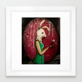 What's Yours Is MINE (Bunny) Framed Art Print