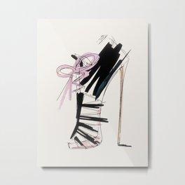 high heel Metal Print