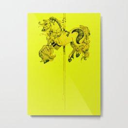 Lydia's Carousel Horse Metal Print
