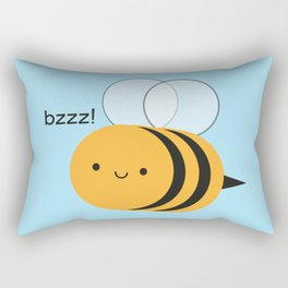 Kawaii Buzzy Bumble Bee Rectangular Pillow