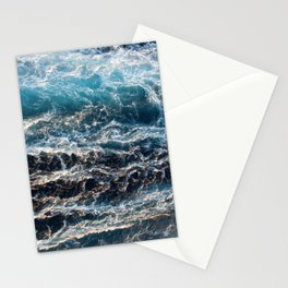 Gradient Blue Ocean Waves  Stationery Cards