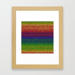 Rainbow Knit Photo Framed Art Print