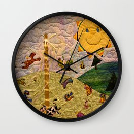 Playing In The Sunshine Wall Clock
