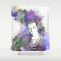 stiles stilinski Shower Curtains featuring Stiles by NKlein Design