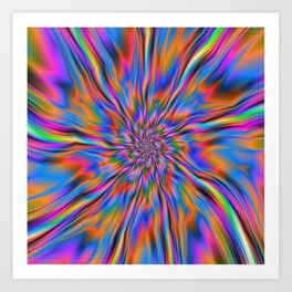 Combustion of Blue Pink and Orange Art Print