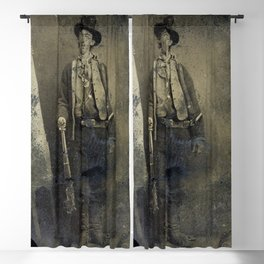 The only surviving authenticated portrait of Billy the Kid (1880) Blackout Curtain