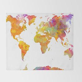 world map 23 Throw Blanket
