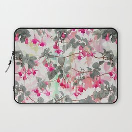 Rainbow Fuchsia Floral Pattern - with grey Laptop Sleeve