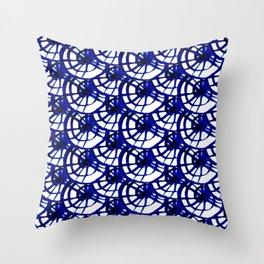 Shibori Curly Maze Throw Pillow