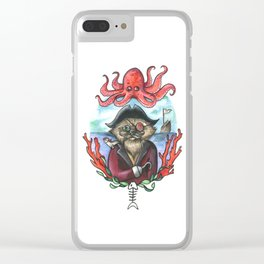 Captain Barnacles The Cat Clear iPhone Case