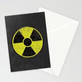 Grunge Radioactive Sign Stationery Cards
