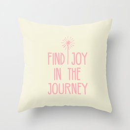 Find Joy In The Journey Throw Pillow
