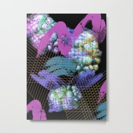 Festive Abstraction 7 (muted) Metal Print