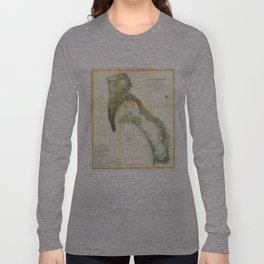Vintage Map of The San Diego Bay (1857) Long Sleeve T-shirt