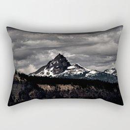 Living Black & White Rectangular Pillow