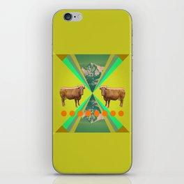 cow's reflexion iPhone Skin