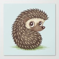 hedgehog Canvas Prints featuring Hedgehog by Toru Sanogawa