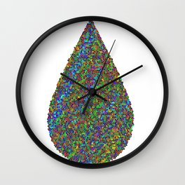 Mosaic Drops Wall Clock