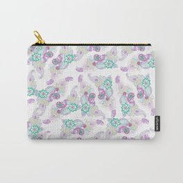 Modern lavender hand drawn paisley floral Carry-All Pouch