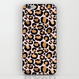 Animal print - pink copper iPhone Skin