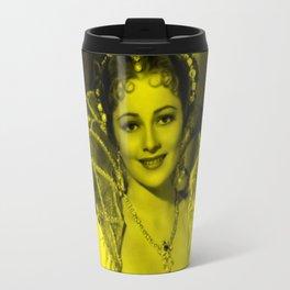 Oliva De Havilland - Celebrity (Photographic Art) Travel Mug