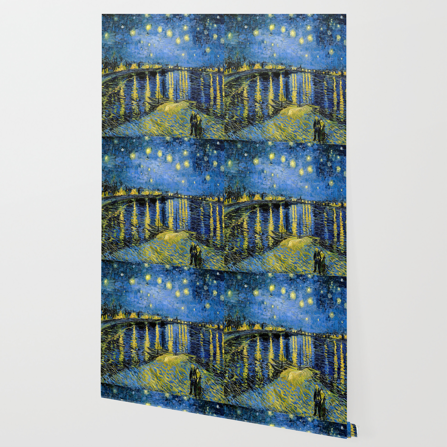 Vincent Van Gogh Starry Night Over The Rhone Wallpaper By Jjbzz