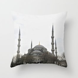Sultan Ahmed Blue Mosque landmark, Istanbul Throw Pillow