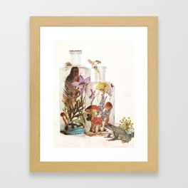 WITCH BOTTLES Framed Art Print