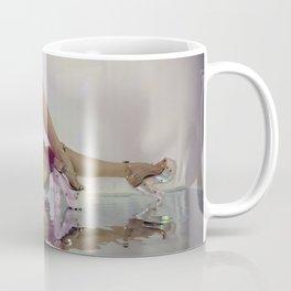 Woman stretches back in Esqape Coffee Mug