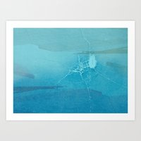 cracked Art Prints featuring Cracked by Claire Elizabeth Stringer