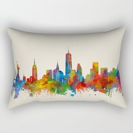 new york skyline watercolor 2 Rectangular Pillow