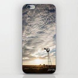 Sandhills Windmill @ Sunset Verticle iPhone Skin