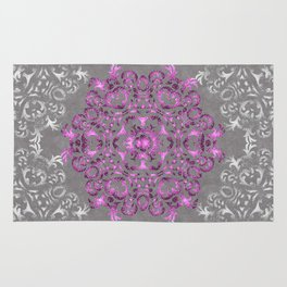 Mandala Pattern with Glitters II Rug