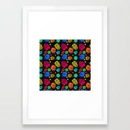 Day of the Dead Pattern Framed Art Print