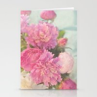 peonies Stationery Cards featuring Peonies by Lisa Argyropoulos
