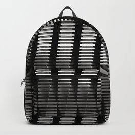 Spinning Columns - Steel - Futuristic Industrial Sci-Fi Pattern Backpack
