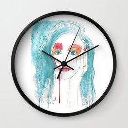 Crying girl. Wall Clock