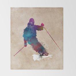 alpine skiing #ski #skiing #sport Throw Blanket