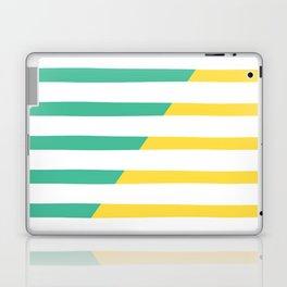 Beach Stripes Green Yellow Laptop & iPad Skin