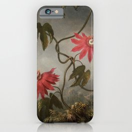 Passion Flowers With Hummingbirds 1883 By Martin Johnson Heade | Reproduction iPhone Case