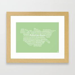 Typographic City: Amsterdam Framed Art Print
