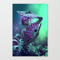 The art of the leaf-stripping Canvas Print