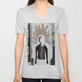 Black Shirt Unisex V-Neck