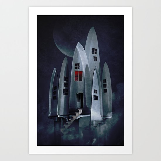 House of Knives 1 Art Print