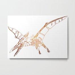 Steampunk Robot Pterodactyl Metal Print
