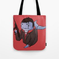 scarface Tote Bags featuring Scarface Whale by CoolBreezDesigns