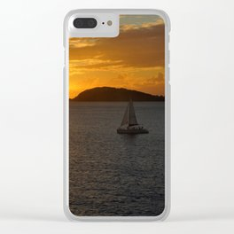 San Thomas USVI sunset Clear iPhone Case