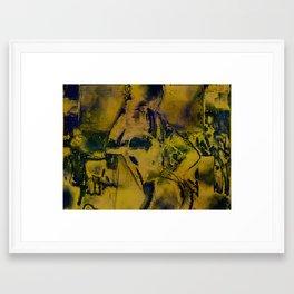 Cyber Dancer Gold Framed Art Print