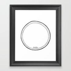 Vacancy Dime B&W Framed Art Print